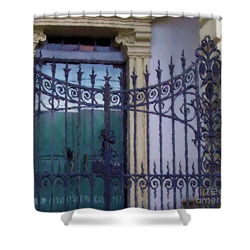 Gate Shower Curtain featuring the photograph Gated by Debbi Granruth