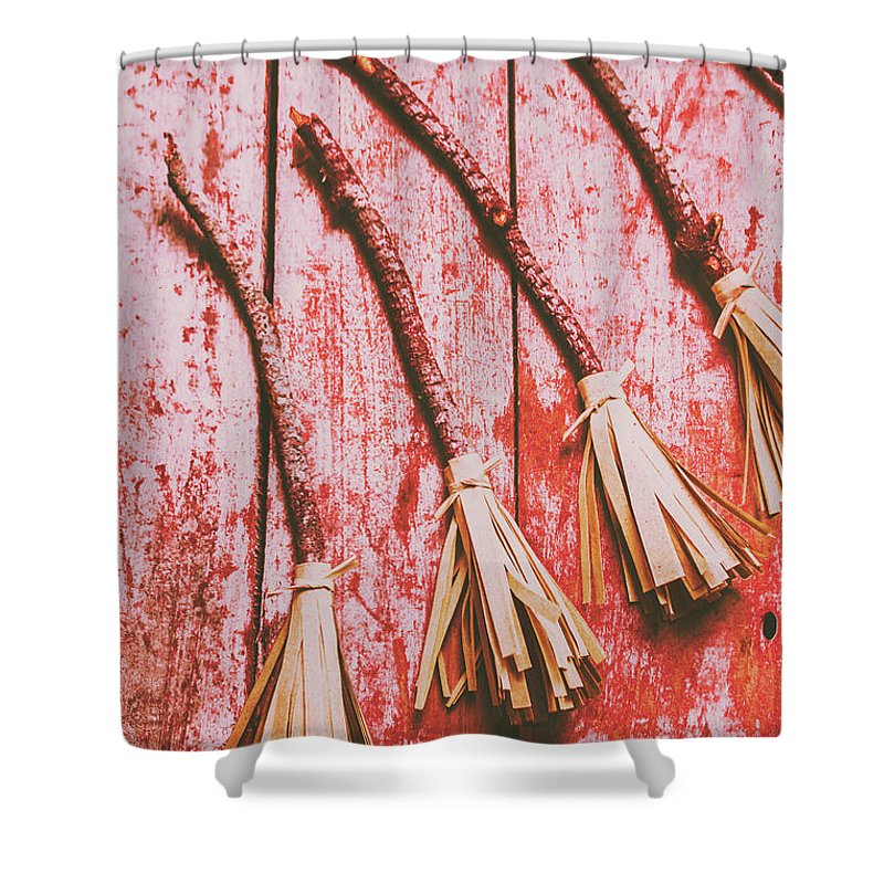 Broom Shower Curtains