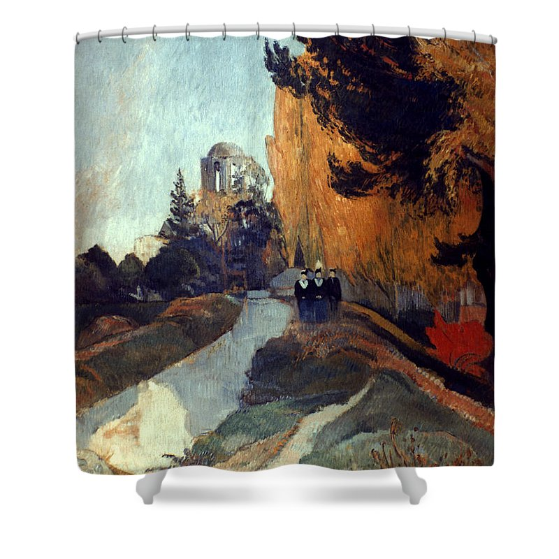 1888 Shower Curtain featuring the photograph Gauguin: Alyscamps, 1888 by Granger
