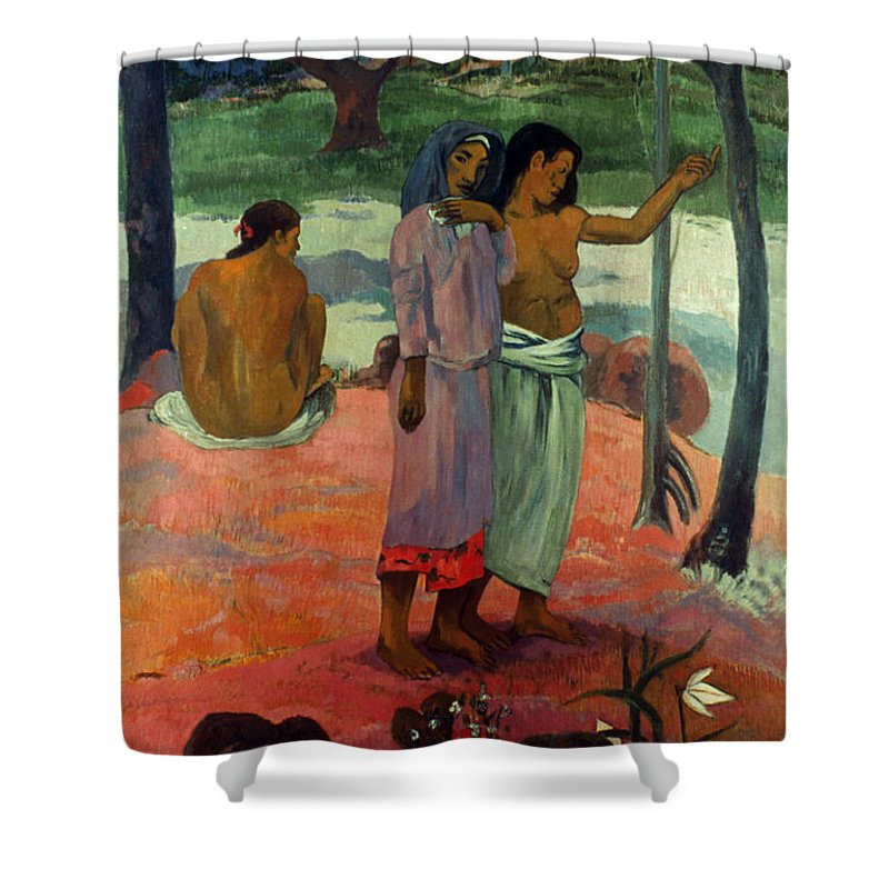 1902 Shower Curtain featuring the photograph Gauguin: Call, 1902 by Granger