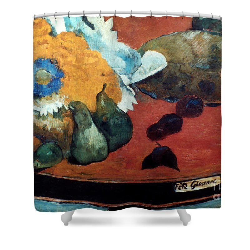 1888 Shower Curtain featuring the photograph Gauguin: Fete Gloanec, 1888 by Granger