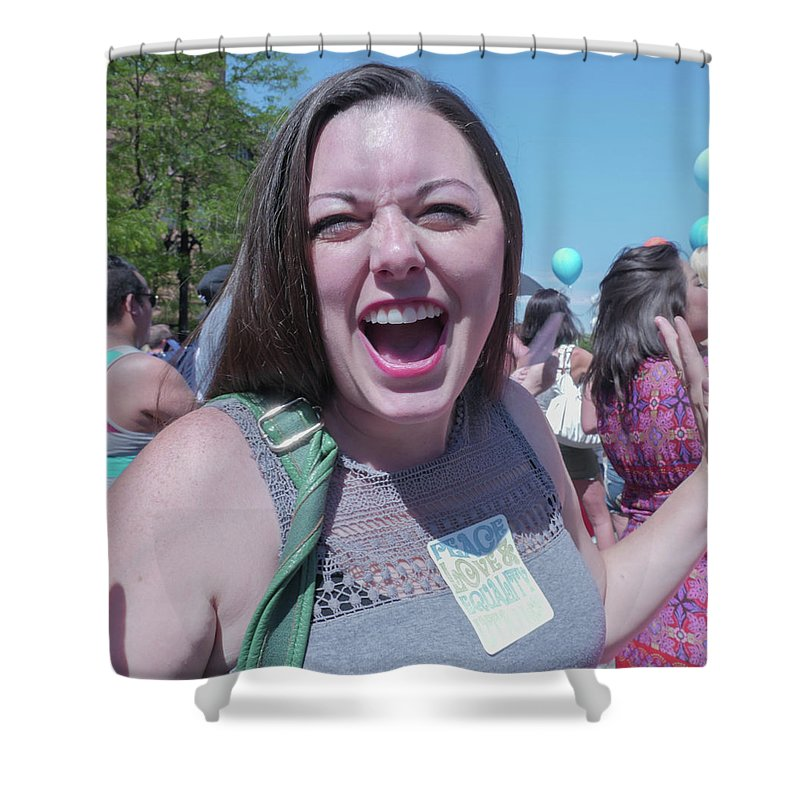 Pride Shower Curtain featuring the photograph Gay Pride Parade 3 by Billy Joe