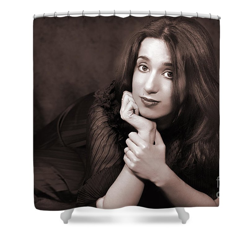 Clay Shower Curtain featuring the photograph Gaze by Clayton Bruster