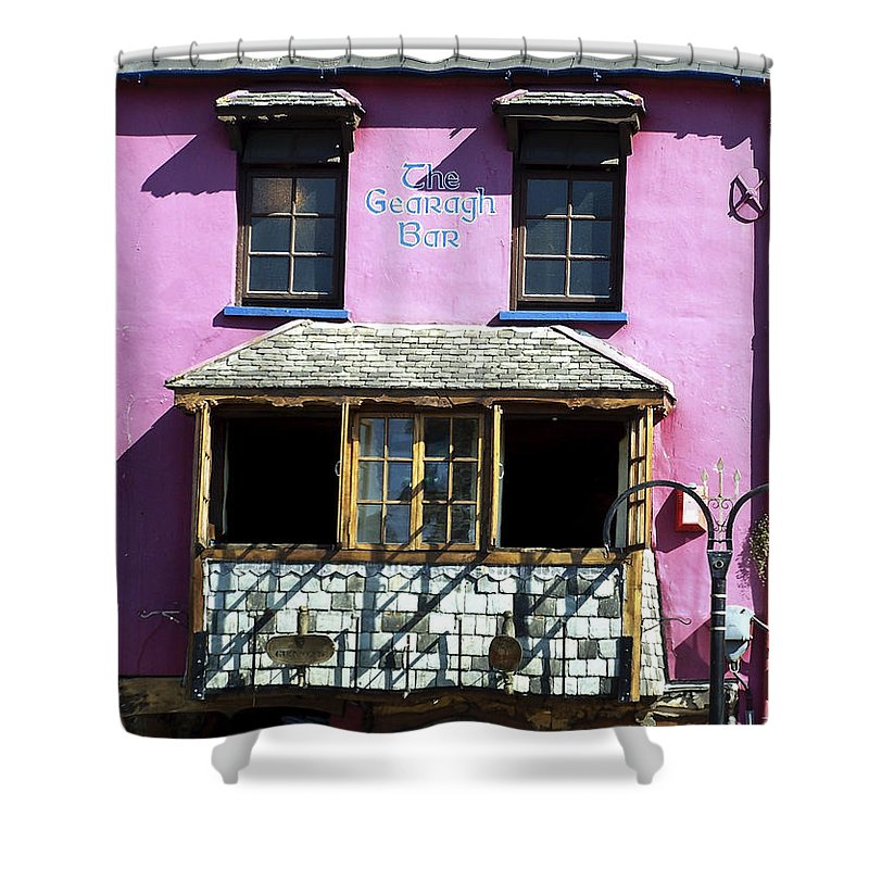 Irish Shower Curtain featuring the photograph Gearagh Pub In Macroom Ireland by Teresa Mucha