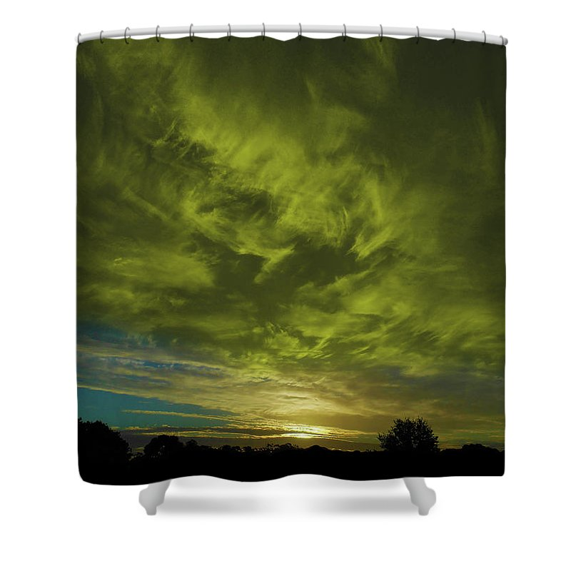 Sunset Shower Curtain featuring the photograph Gem Sunset by Mark Blauhoefer