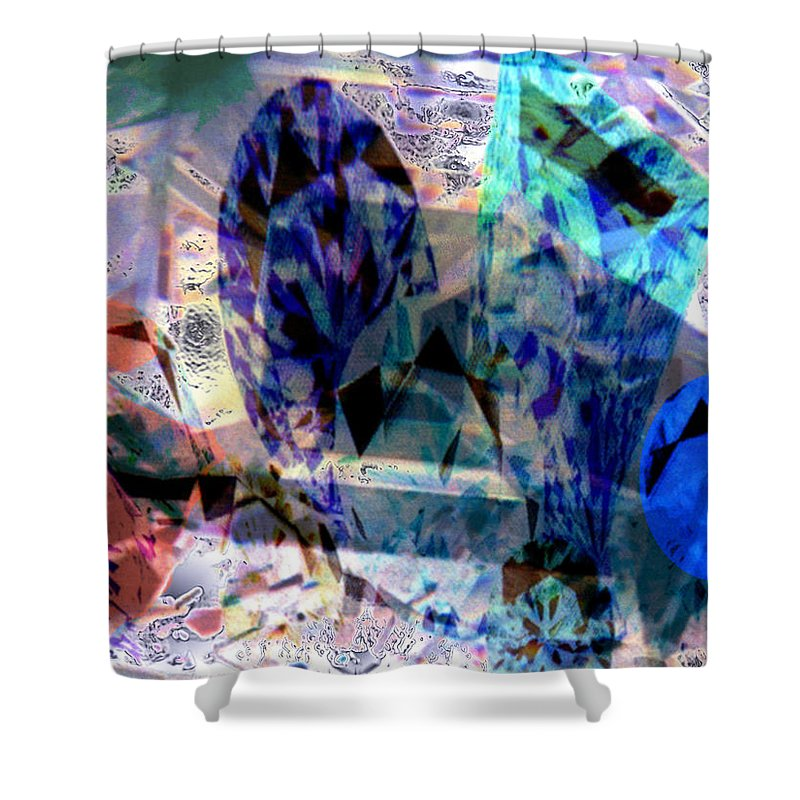 Abstract Shower Curtain featuring the photograph Gems Of Ice by Seth Weaver