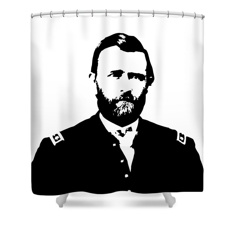 Us Civil War Digital Art Shower Curtains