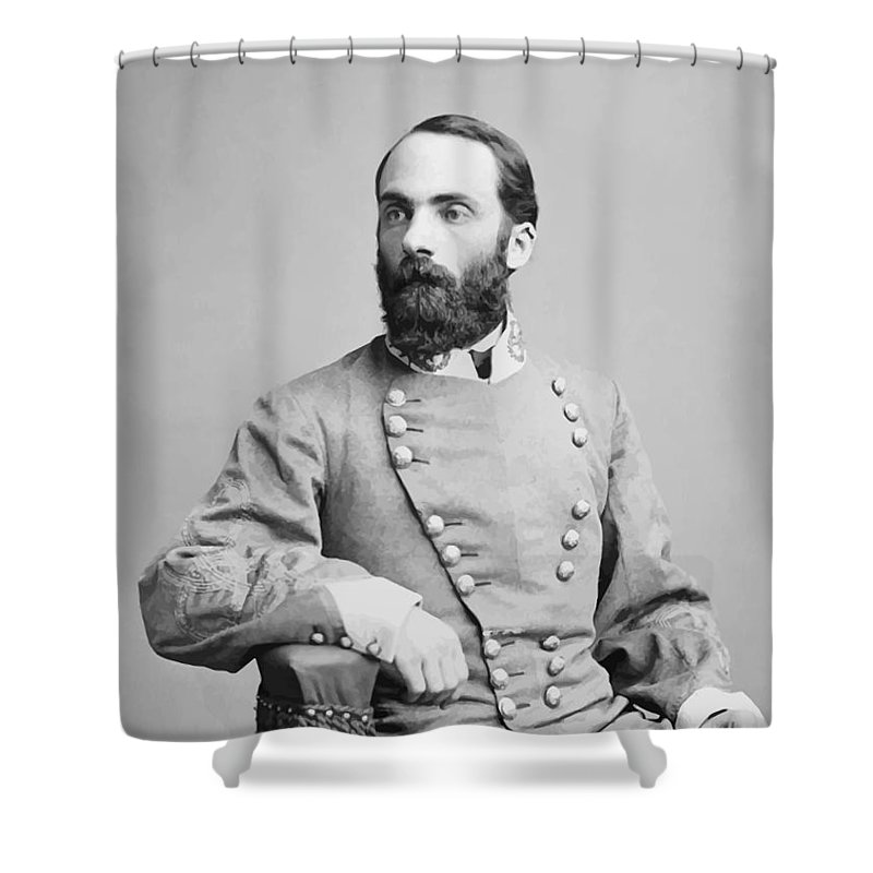 Joe Wheeler Shower Curtain featuring the photograph General Joseph Wheeler by War Is Hell Store