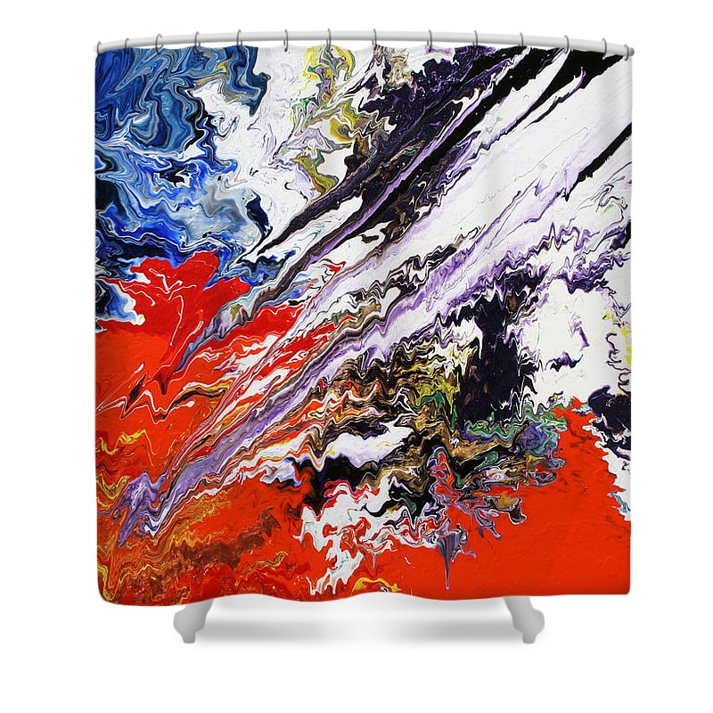Fusionart Shower Curtain featuring the painting Genesis by Ralph White