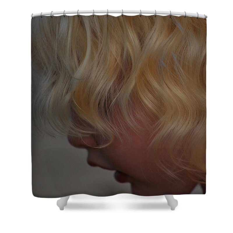 Little Girl Shower Curtain featuring the photograph Gentle Beauty by Laura Leigh McCall