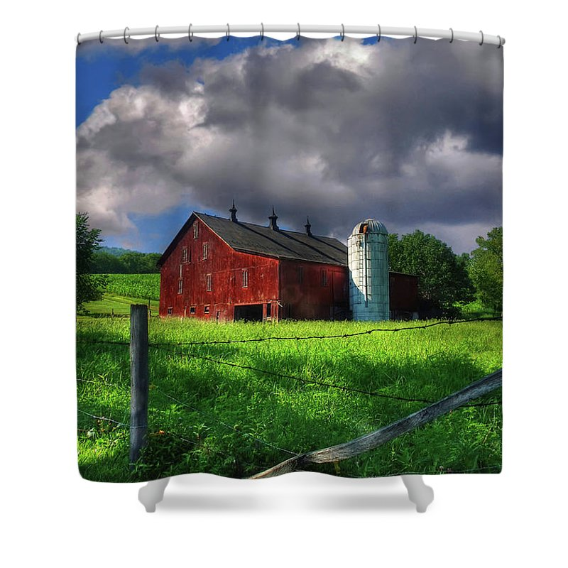 Landscape Shower Curtain featuring the photograph Gentle Summer by Lois Bryan