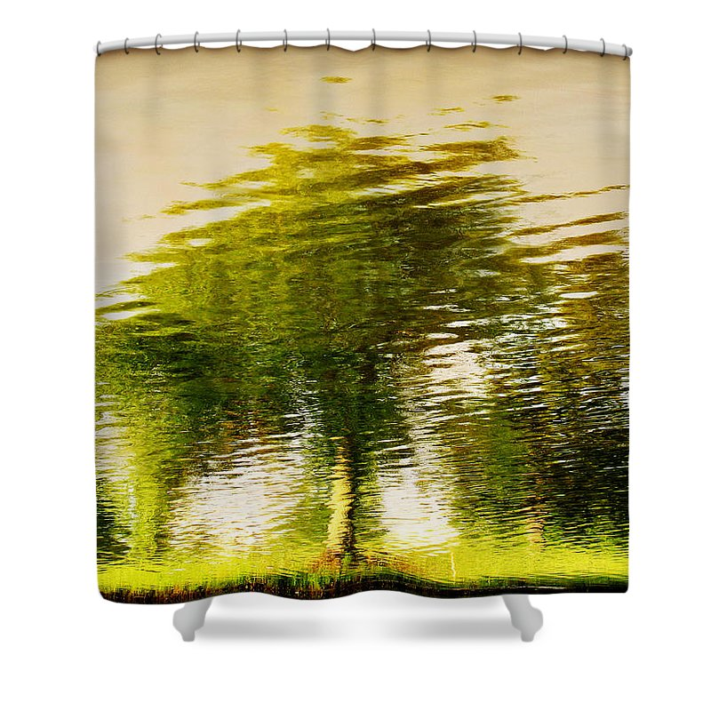 Abstract Shower Curtain featuring the photograph Gentle Sun by Dana DiPasquale