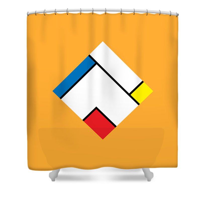 Geometry Shower Curtain featuring the digital art Geometric Art 307 by Bill Owen