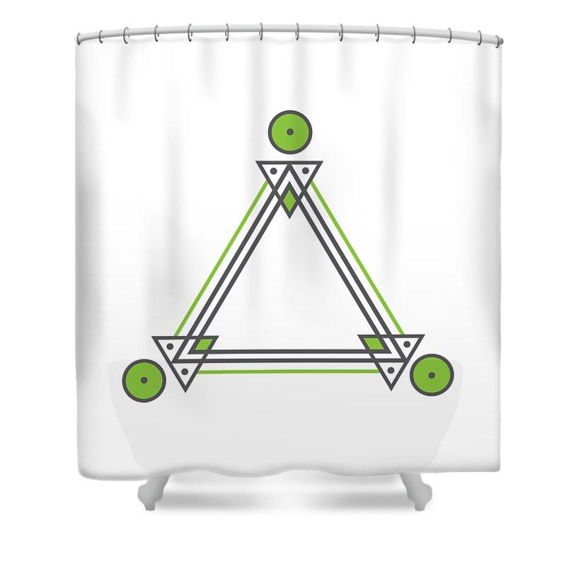 Art Shower Curtain featuring the digital art Geometric Design Series Three by Austin Jackson