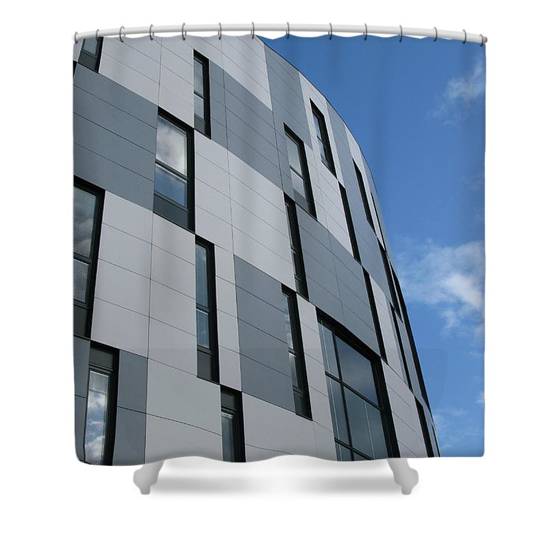 Architecture Shower Curtain featuring the photograph Geometric Intrigue by Ann Horn