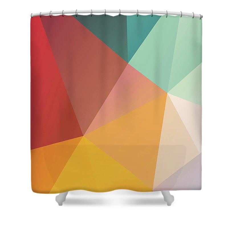Shower Curtain featuring the digital art Geometric XXIX by Ultra Pop