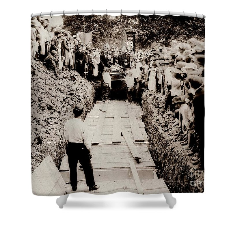 Common Grave Shower Curtain featuring the photograph Georgetown Section Of Wilkes Barre Twp. June 5 1919 by Arthur Miller