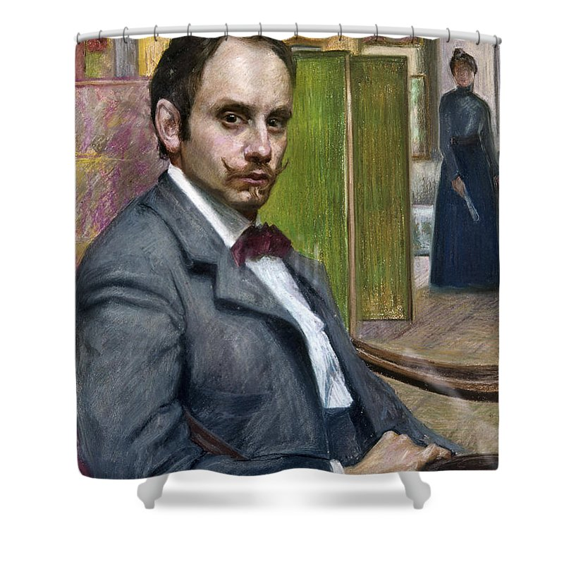 1900 Shower Curtain featuring the photograph Gerardo Murillo (1875-1964) by Granger