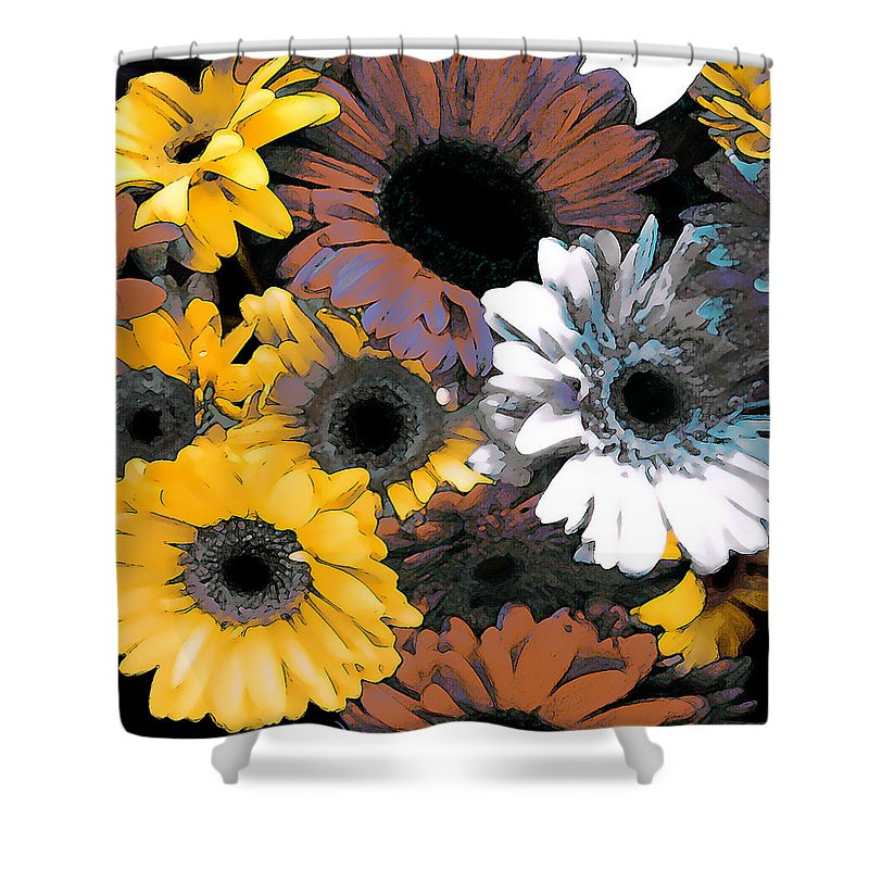 Daisies Shower Curtain featuring the photograph Gerbera Cluster by Linda Parker