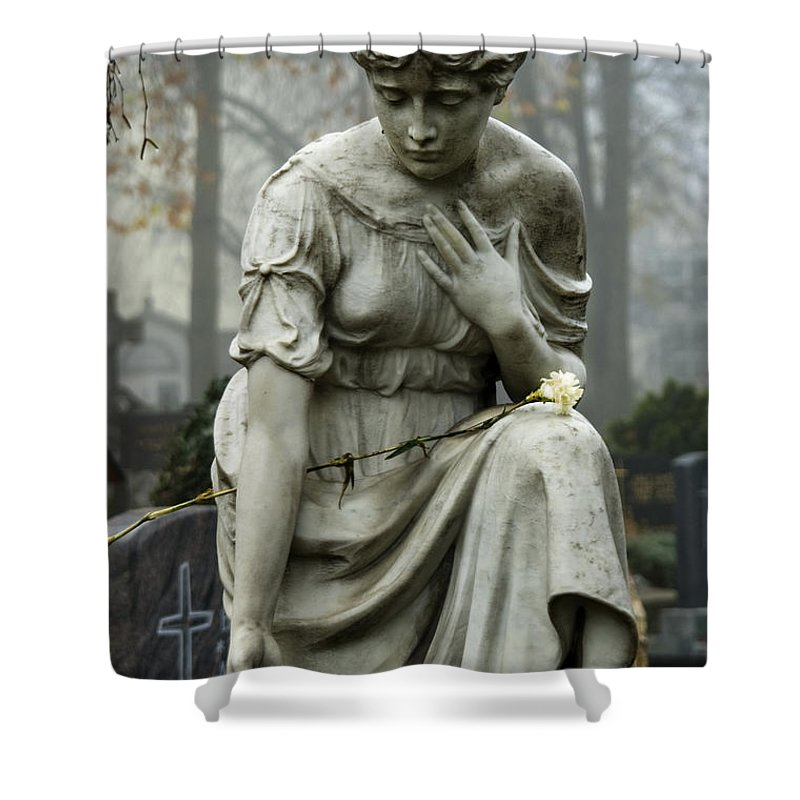 Angel Shower Curtain featuring the photograph German Angel by Mary Lane
