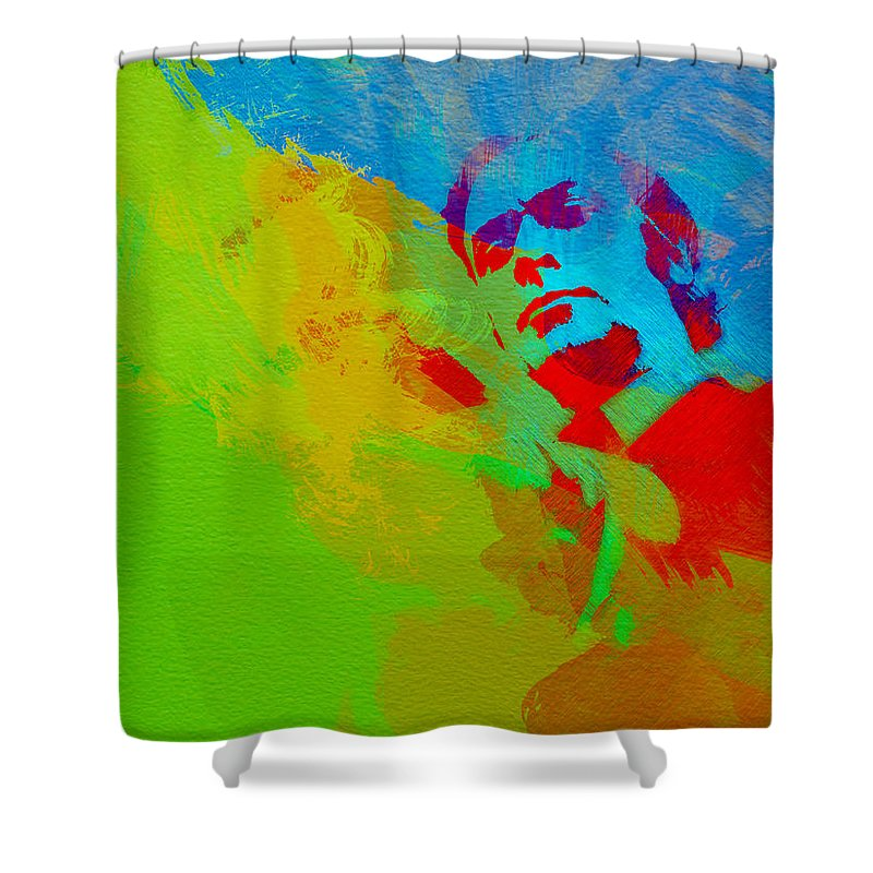 Get Carter Shower Curtain featuring the painting Get Carter by Naxart Studio