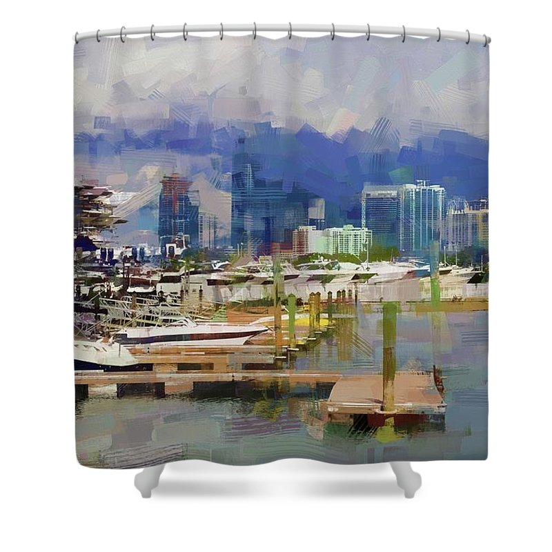 Alicegipsonphotographs Shower Curtain featuring the photograph Get The Boat by Alice Gipson