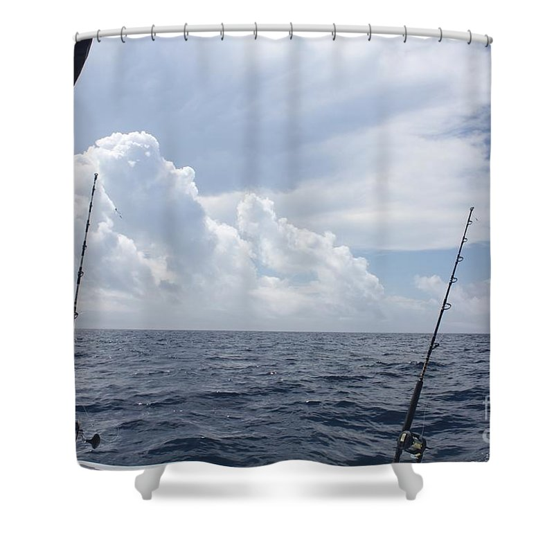 Getting Ready To Fish Shower Curtain featuring the photograph Getting Ready To Fish by John Telfer