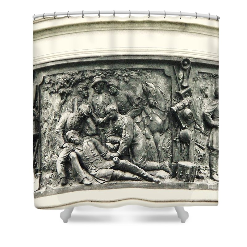 Gettysburg Shower Curtain featuring the photograph Gettysburg Monument by Eric Schiabor