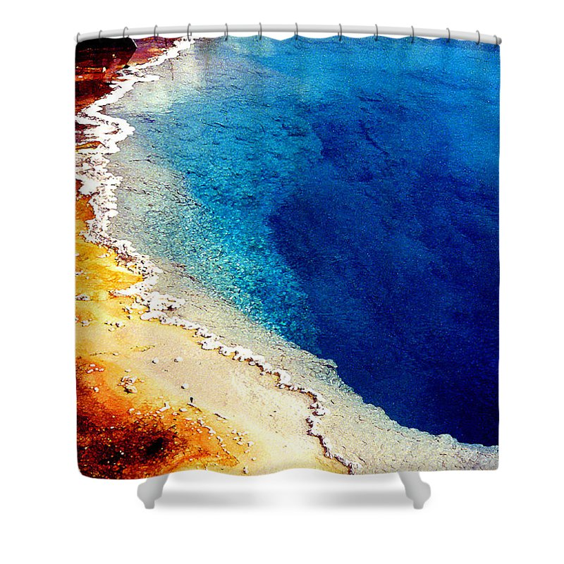 Geyser Shower Curtain featuring the photograph Geyser Basin by Nancy Mueller