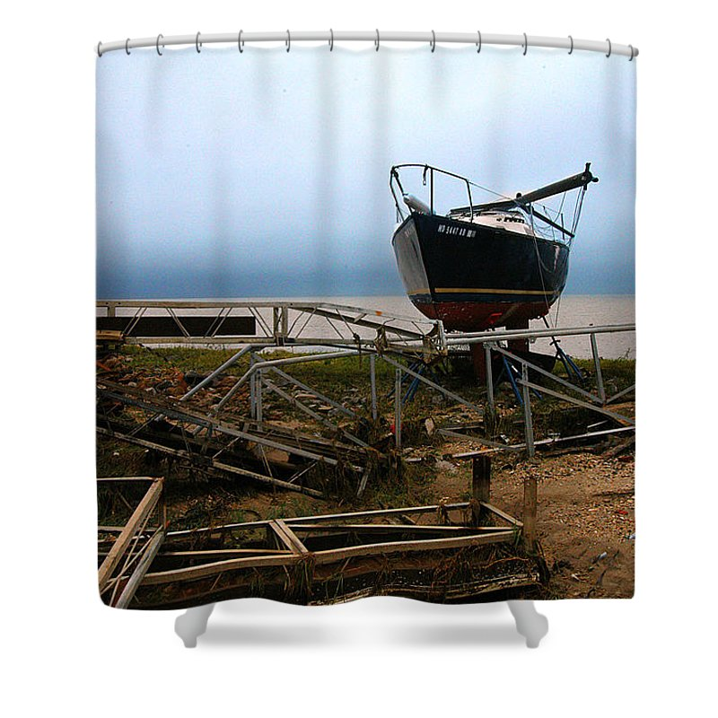 Clay Shower Curtain featuring the photograph Ghost by Clayton Bruster
