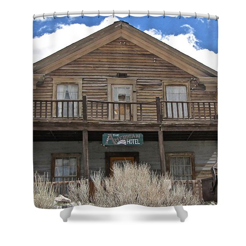 4x4 Shower Curtain featuring the photograph Ghost Hotel by Backcountry Explorers