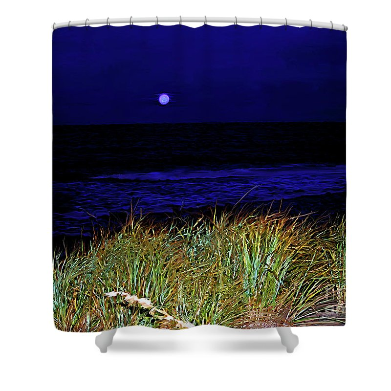Fine Art Photography Shower Curtain featuring the photograph Ghost Moon by Patricia Griffin Brett