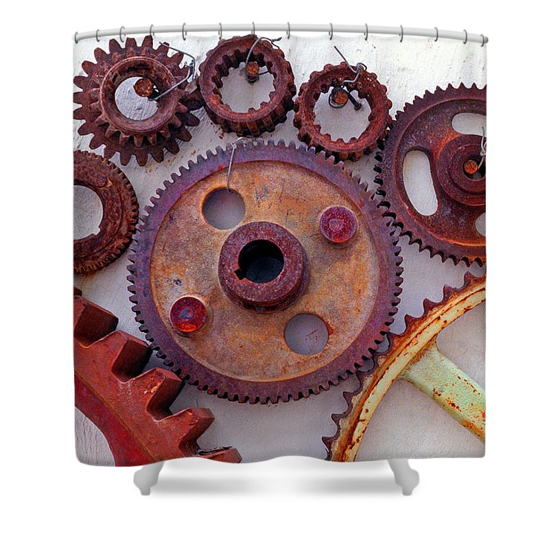 Gears Shower Curtain featuring the photograph Ghost by Skip Hunt