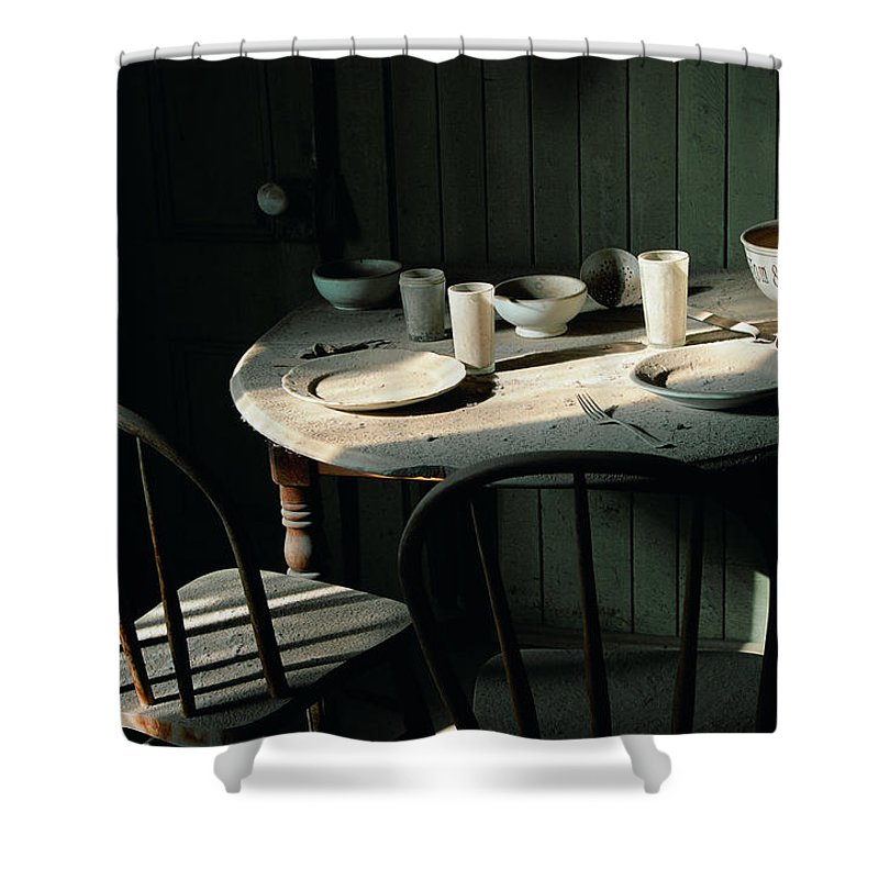 Table Shower Curtain featuring the photograph Ghostwind by Spirit Vision Photography