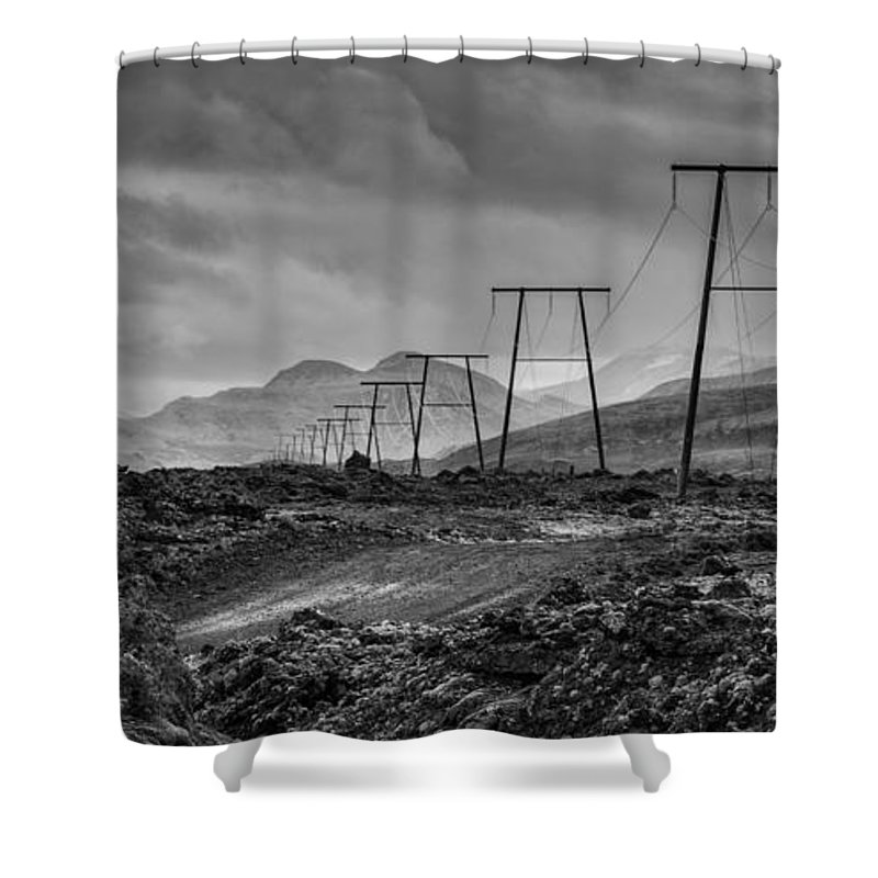 Iceland Shower Curtain featuring the photograph Giant Steps Are What You Take by Neil Alexander