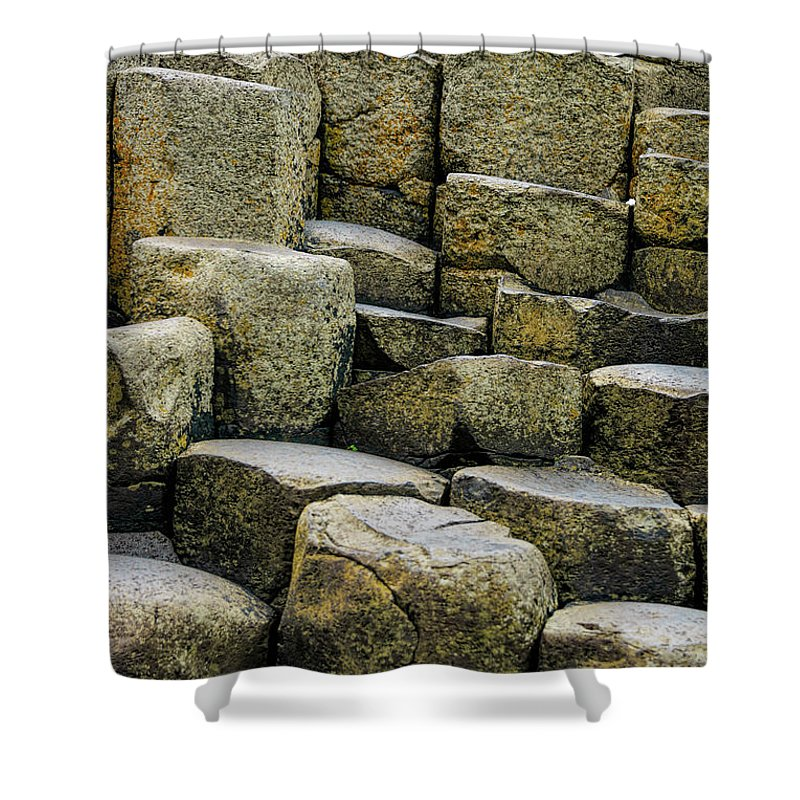 Landscape Shower Curtain featuring the photograph Giant's Causeway #2 by Elvis Vaughn