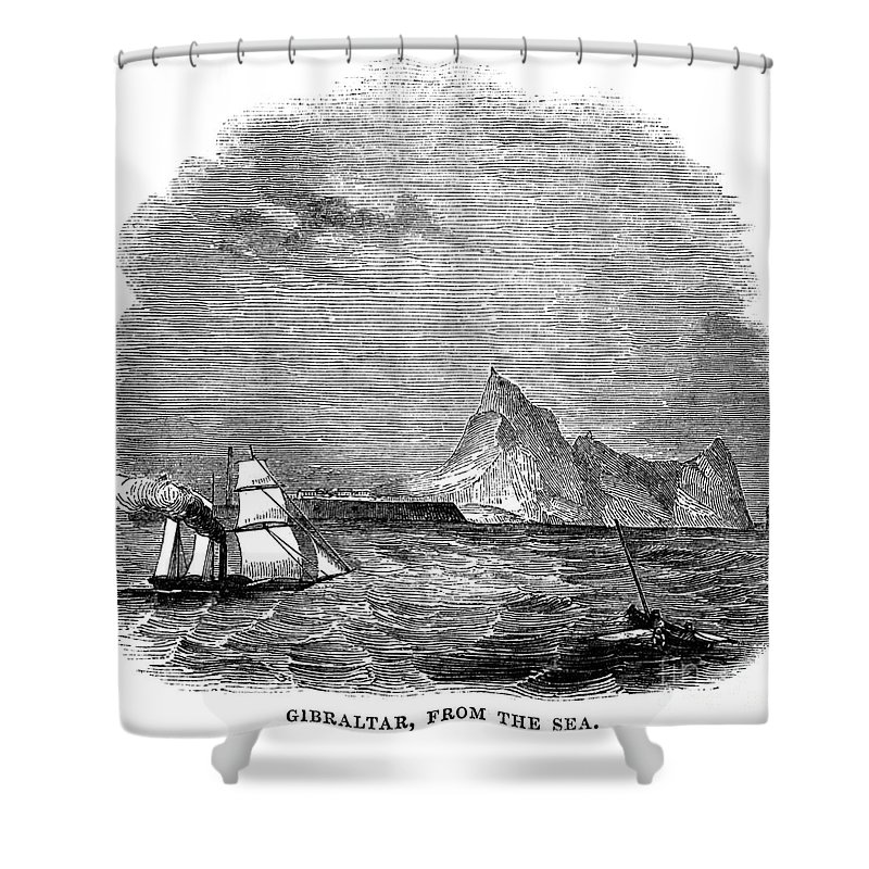 1843 Shower Curtain featuring the photograph Gibraltar, 1843 by Granger