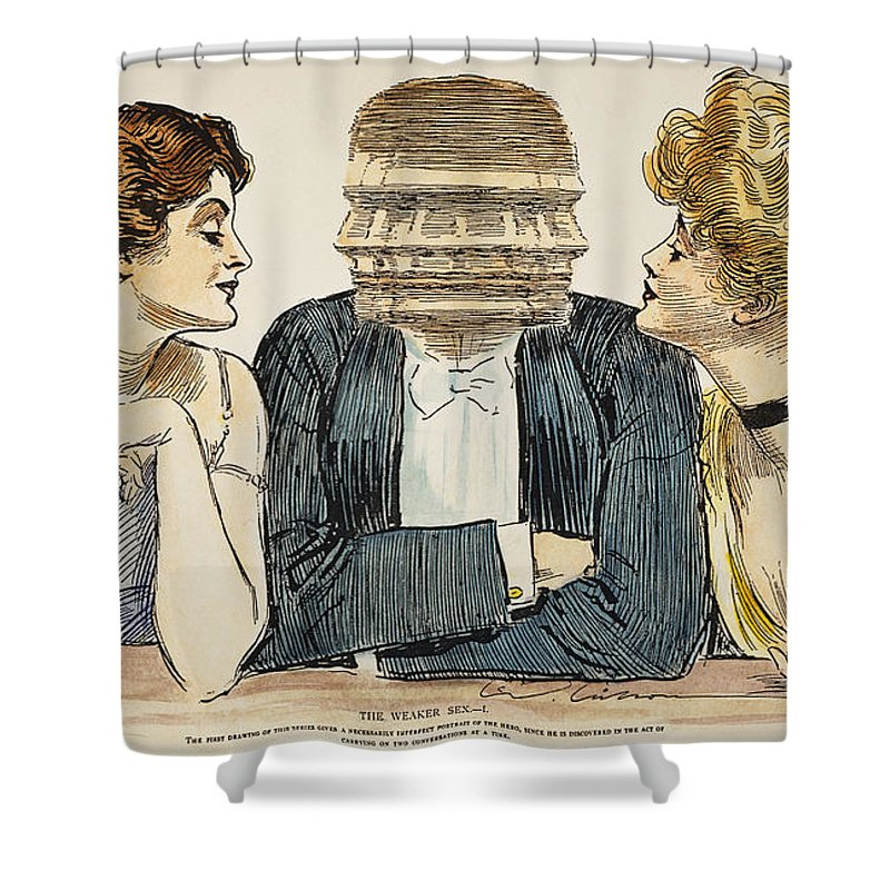 1903 Shower Curtain featuring the photograph Gibson Girls, 1903 by Granger