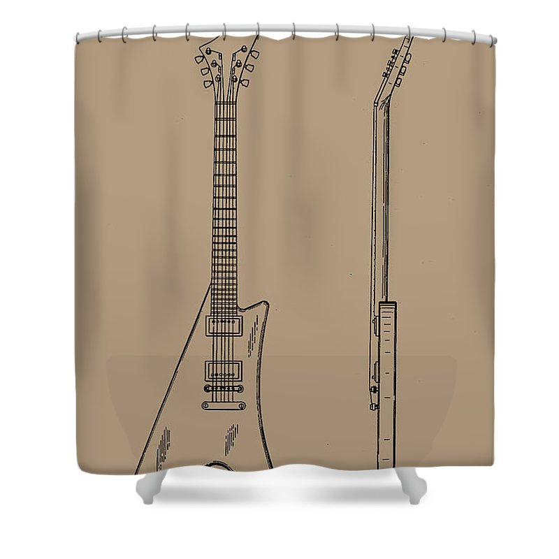Gibson Moderne Guitar Shower Curtain for Sale by Gibson