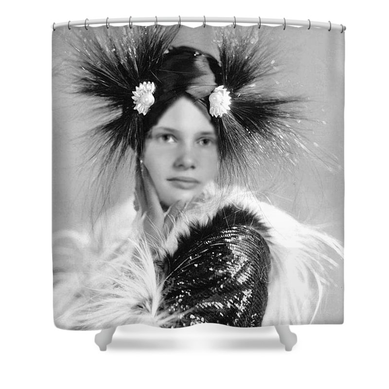 Young Girl Shower Curtain featuring the photograph Giesha by Lisa Pursel