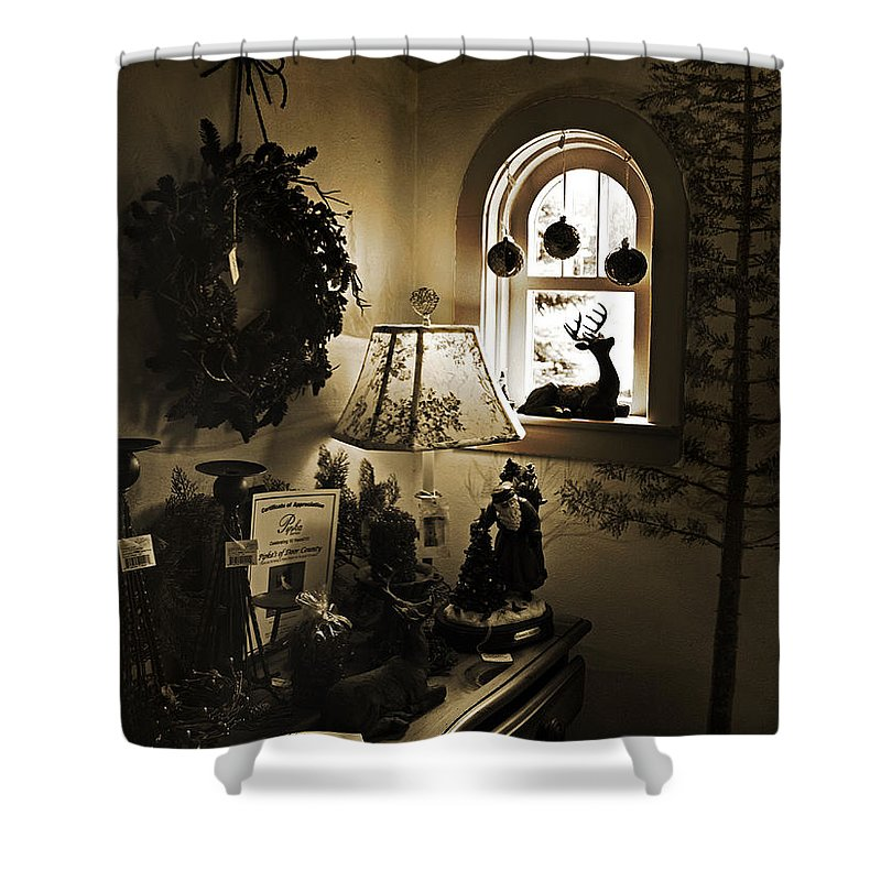 Antiques Shower Curtain featuring the photograph Gift Boutique by Joanne Coyle