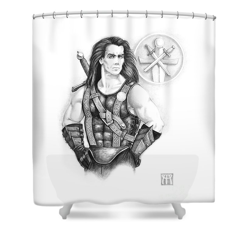 Celtic Shower Curtain featuring the painting Giles Dancer by Melissa A Benson
