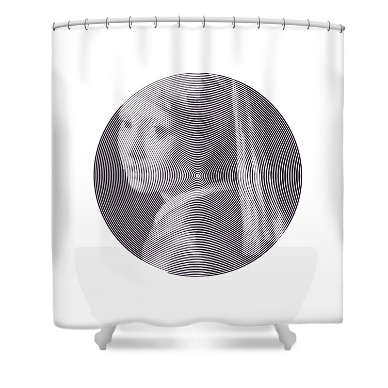 Girl With A Pearl Earring Shower Curtain featuring the digital art Girl With A Pearl Earring by Zachary Witt