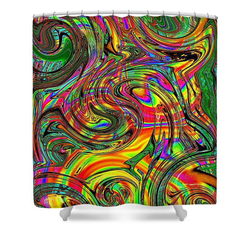 Abstract Shower Curtain featuring the photograph Give It A Whirl by Tim Allen