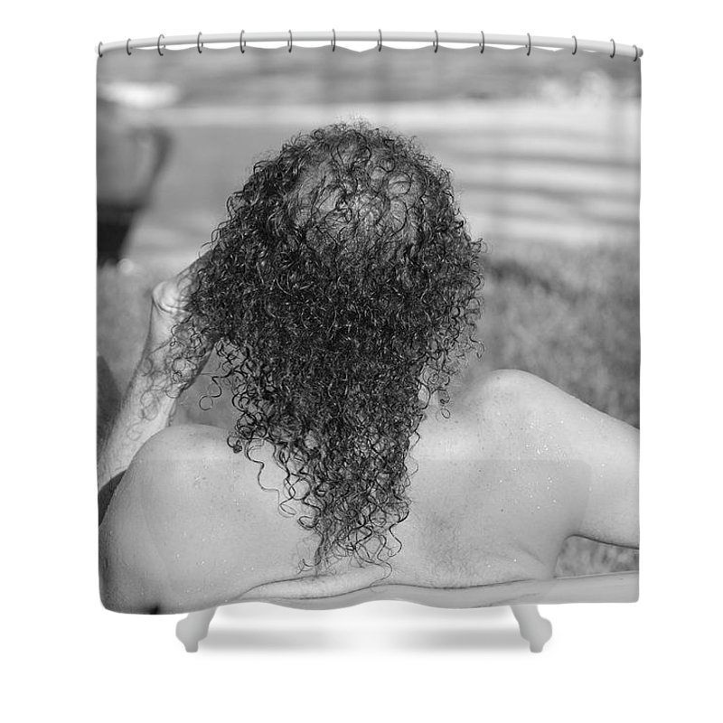 Black And White Shower Curtain featuring the photograph Give It Up Dude by Rob Hans