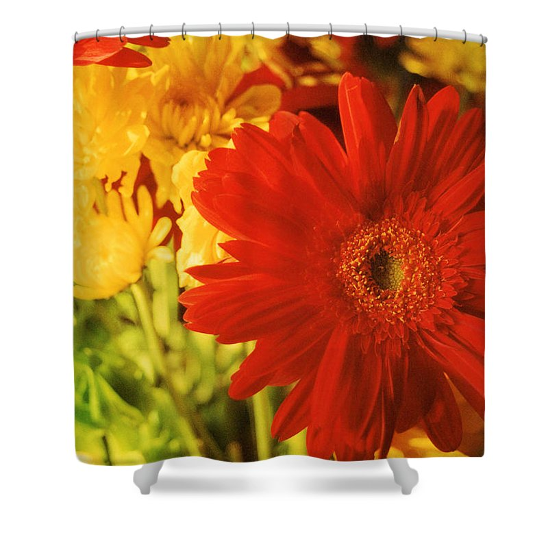 Floral Shower Curtain featuring the photograph Give It Your All by Jan Amiss Photography