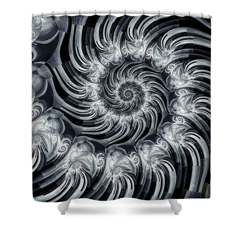 Fine Art Shower Curtain featuring the digital art Gizmo by Kevin Trow