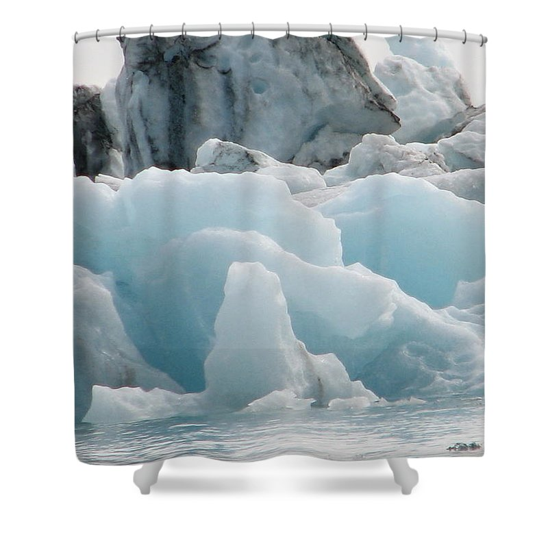 Ice Lagoon Shower Curtain featuring the photograph Glacial Lagoon Iceland by Andres Zoran Ivanovic