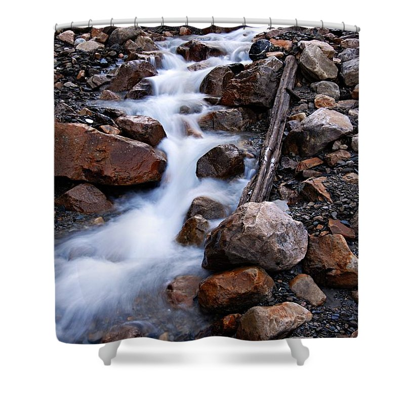 Glacial Stream Shower Curtain featuring the photograph Glacial Stream by Larry Ricker