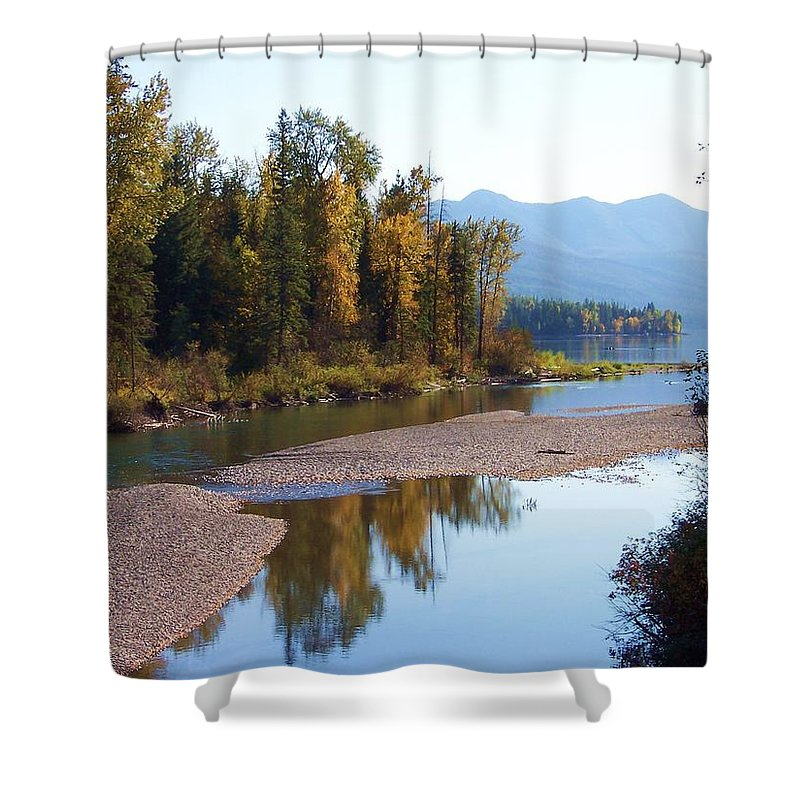 Montana Shower Curtain featuring the photograph Glacier Park 12 by Deahn   Benware